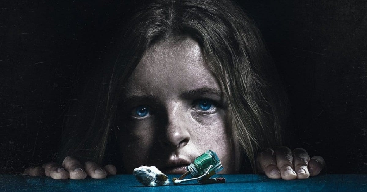 Little girl from Hereditary with a mouses head and strange modelled body