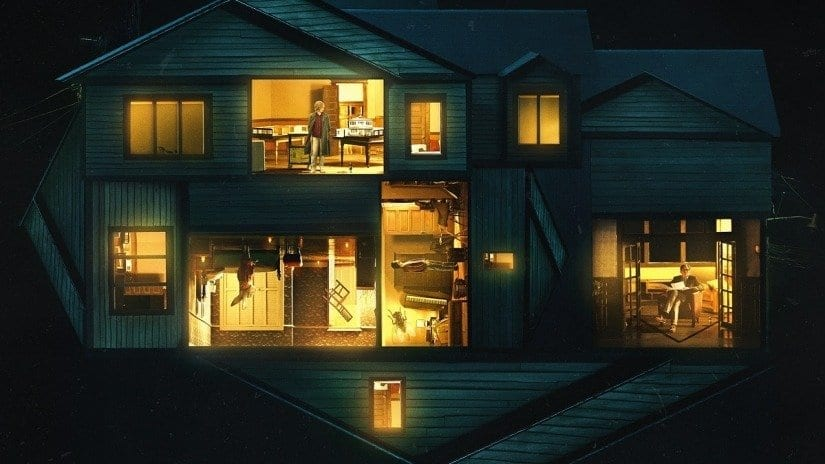 The house from Hereditary as seen in cross section