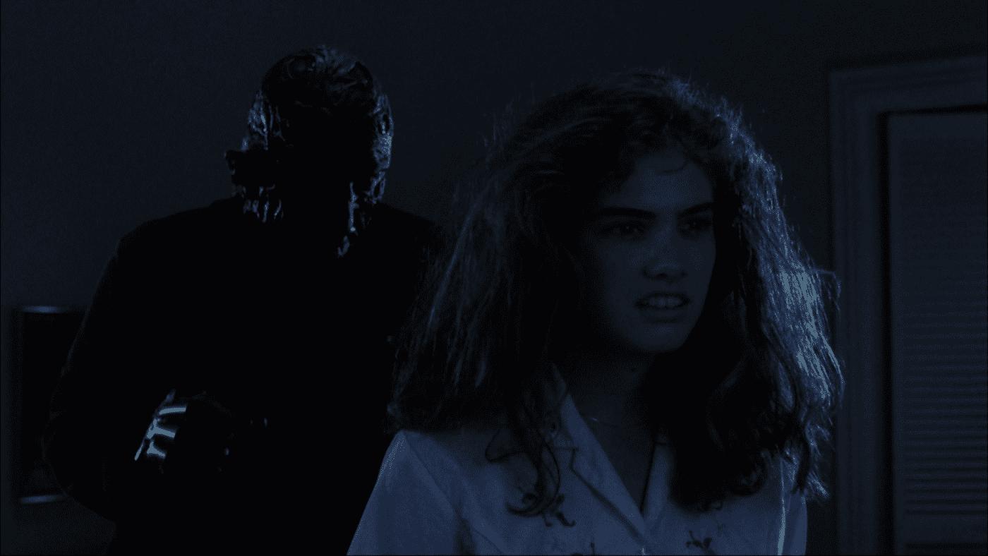 Nancy turns her back on Freddy Krueger