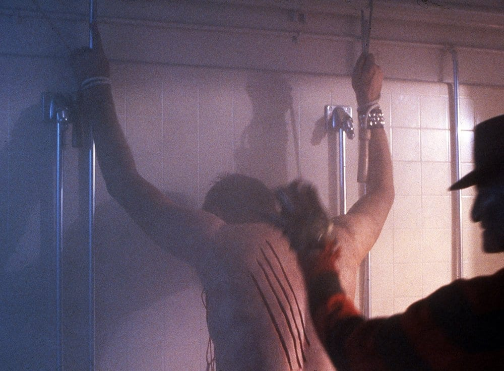The infamous A Nightmare on Elm Street shower scene
