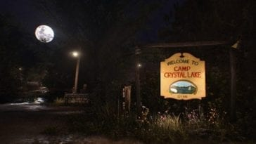 Welcome to Camp Crystal Lake sign from Friday the 13th