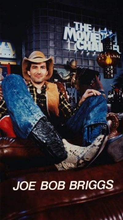 Joe Bob Brigs in early days of Drive-In Theater show.