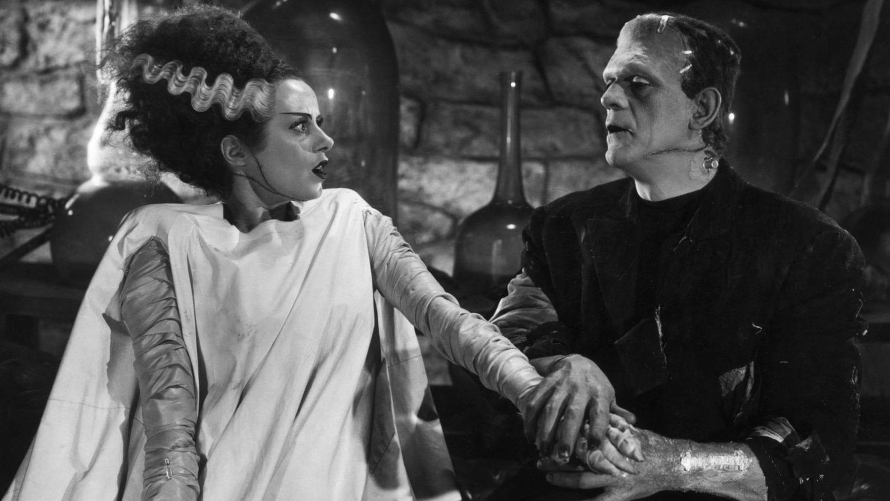 Bride of Frankenstein's arm being grabbed by Frankenstein's monster