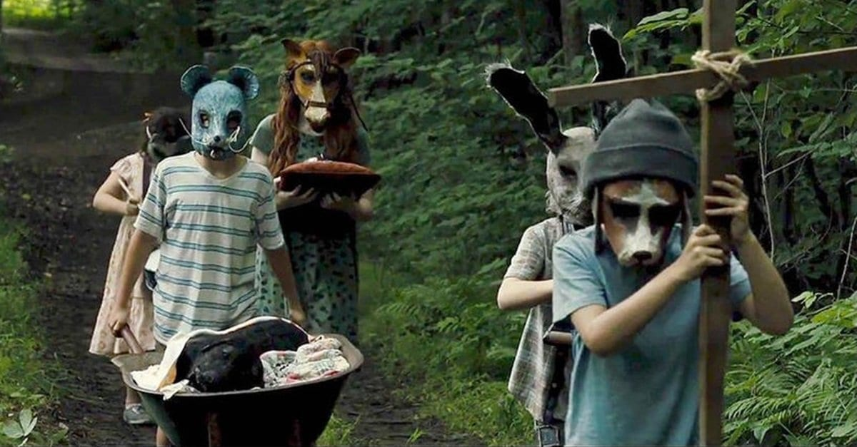 Children play in the wood near the mysterious Pet Sematary.