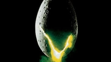 An egg cracks open in a promo image for Alien