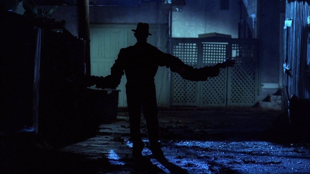 Wes Craven's original A Nightmare On Elm Street kept Freddy Krueger (Robert Englund) hidden in the shadows.