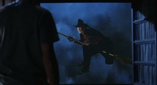 Freddy as 'wicked witch' in a dream in Freddy's Dead.