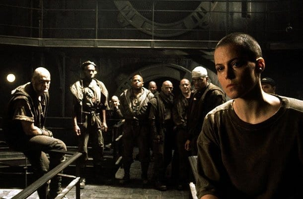 Ripley leads Dylan (Chharles S. Dutton) and his gang of convicts turned religious zealots at Fiorina 151 in an ultimate battle between man and xenomorph.