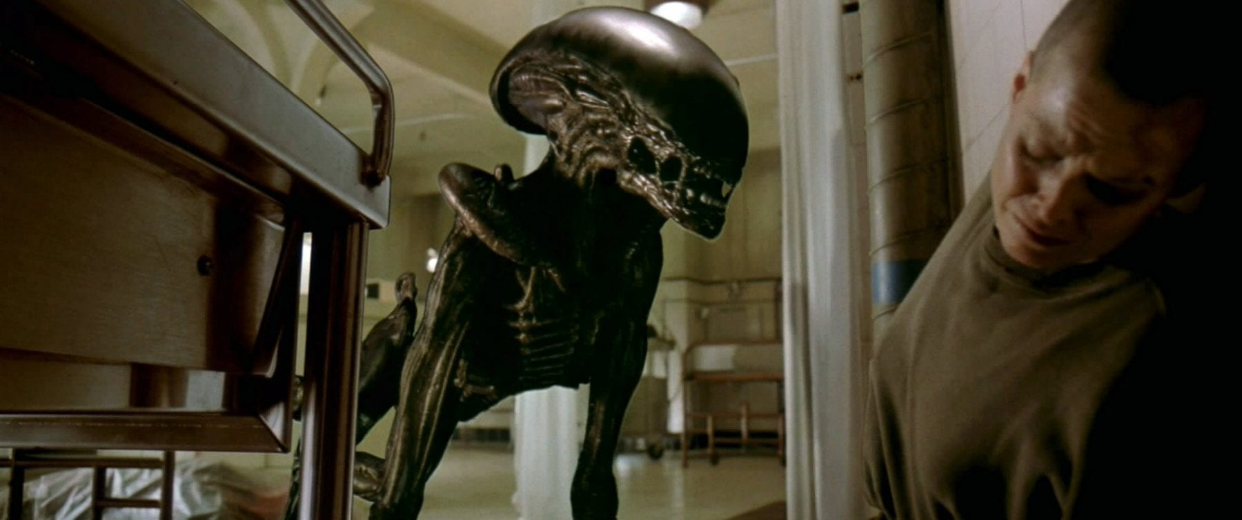 H.R. Giger's new design was more animalistic. Here, as it attacks Ripley, xenomorph. ou can see that it is a brand new kind of xe