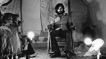 Writer-Director Tobe Hooper on the set of the film that changed everything: Texas Chainsaw Massacre (1974(.