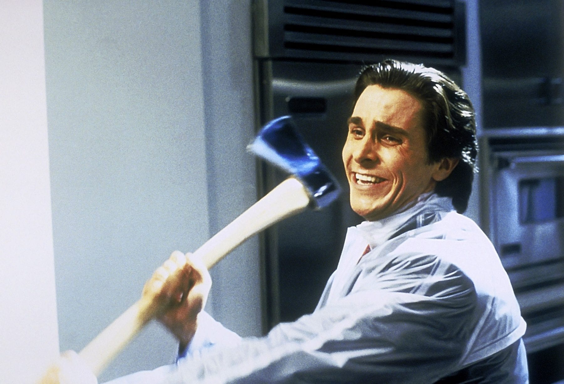 Patrick Bateman (Christian Bale) just wants to know why you don't like Huey Lewis and the New in American Psycho (2000).
