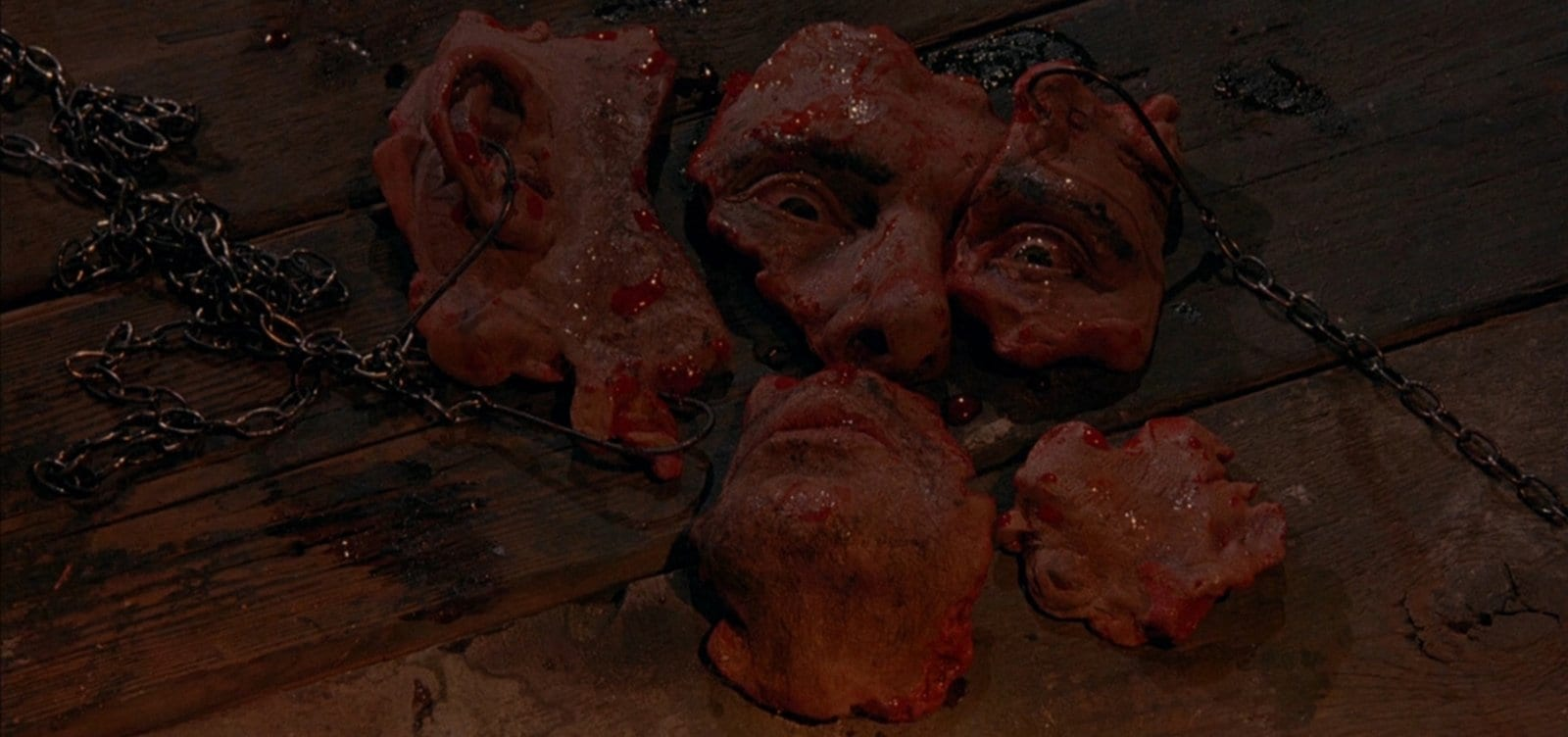 Franks Face Jigsaw ripped into pieces Hellraiser