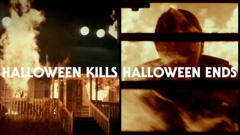 Title cards for the newest of the Halloween Films to be released in 2020 and 2021