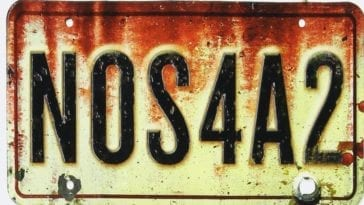 A car number plate that reads NOS4A2