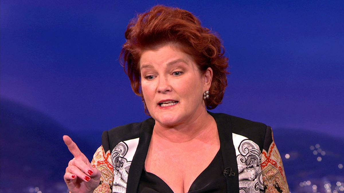 Kate Mulgrew, the narrator of NOS4A2, from her 2010 Conan appearance