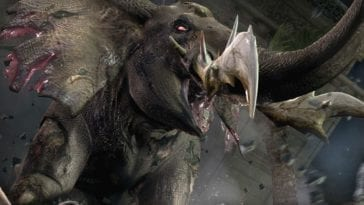 An elephant monster in Resident Evil Outbreak File 2