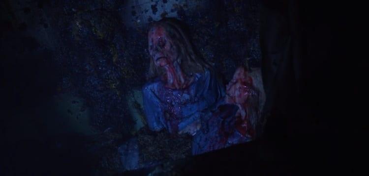 A shot of the partially devoured missing Grady twins found in Richie Grenadine's bathtub.