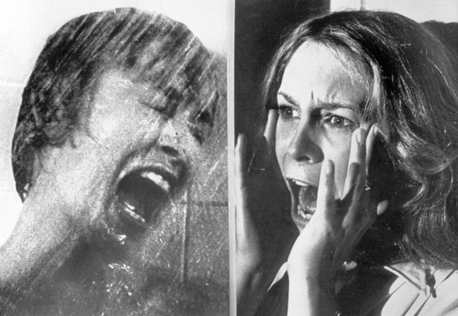 anet Leigh and Jamie Lee Curtis Screaming