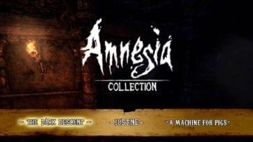 Amnesia Collection title screen