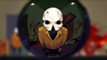 The Reaper stares through a keyhole with a fish bowl view
