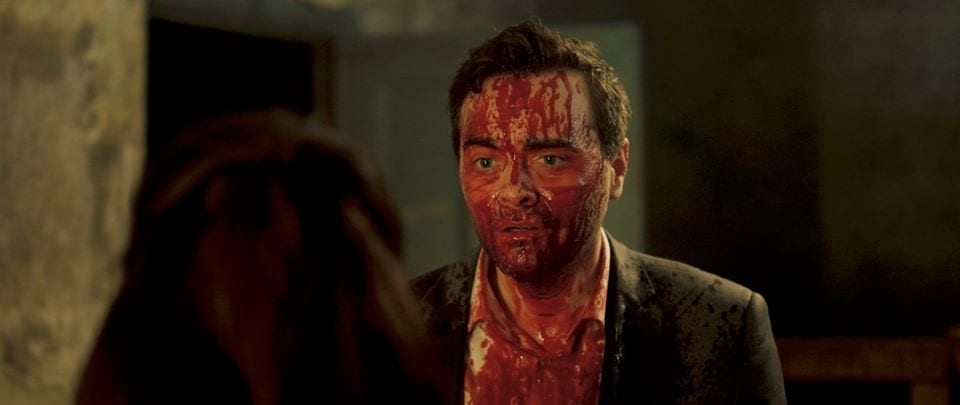 Karl covered in blood in Don't Let Them In