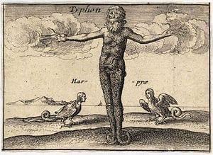 Portrait of Monster God Typhon
