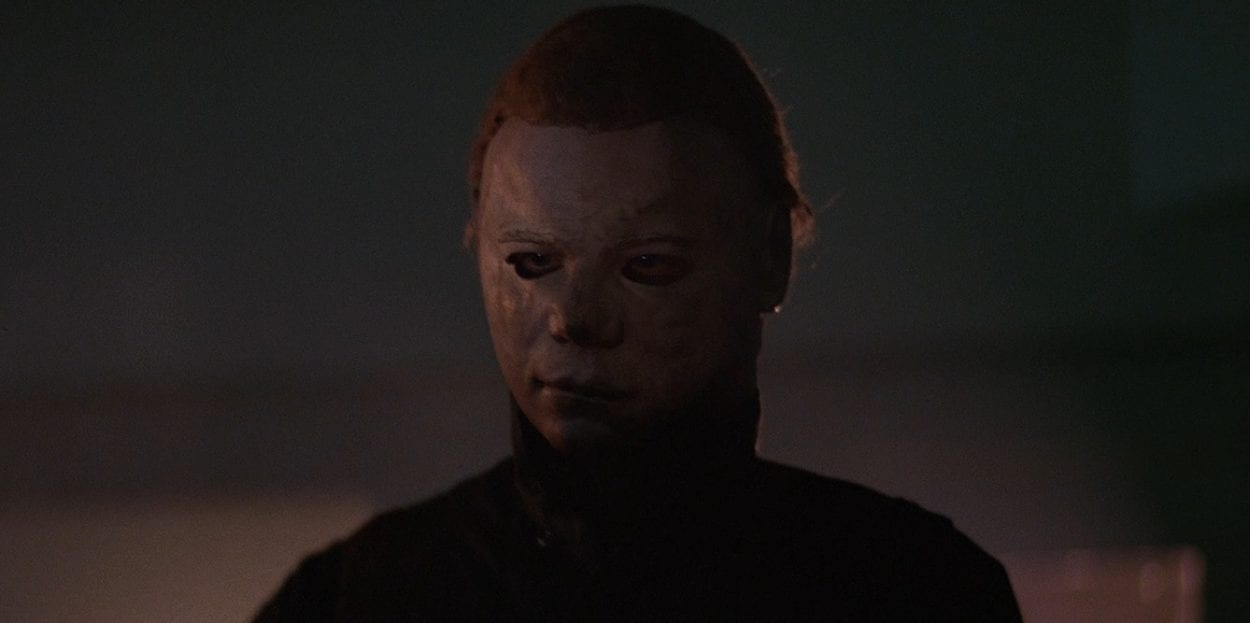 Michael Myers' look/mask in Halloween II (1981)
