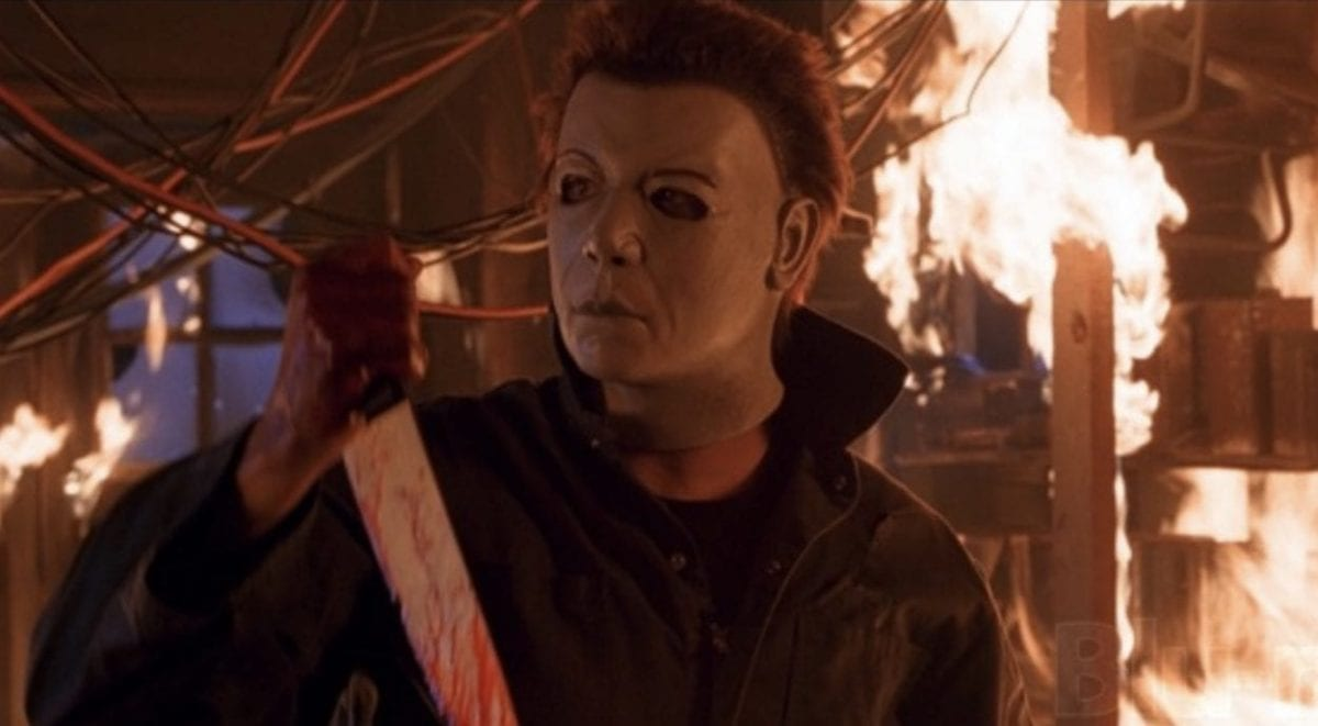 Michael Myers' look/mask in Halloween: Resurrection