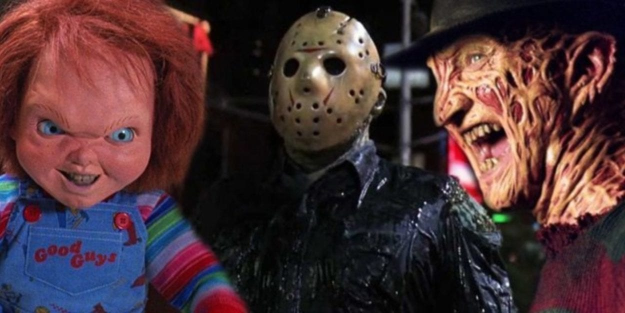 Chucky, Jason Vorhees and Freddy Kreuger in a side by photo