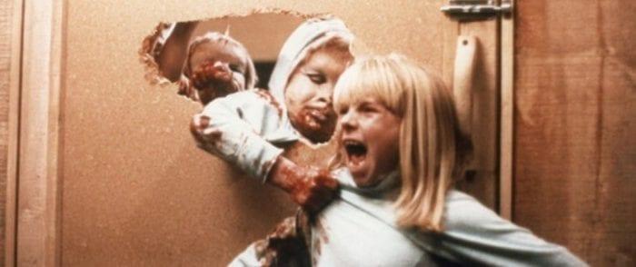 Dwarf monster children grab a little girl who screams