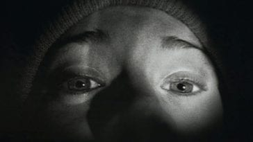 closeup in the dark in The Blair Witch Project