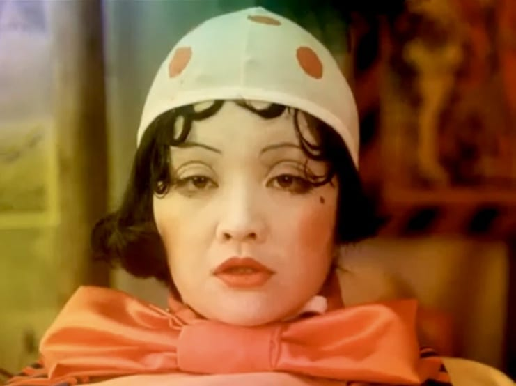A Japanese lady in circus make up