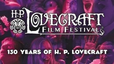 The H.P. Lovecraft Film Festival Banner celebrating the 130th anniversary of Lovecraft's works