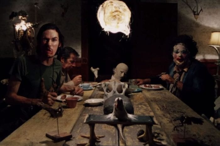 The Sawyer family sits down to have a nice dinner.