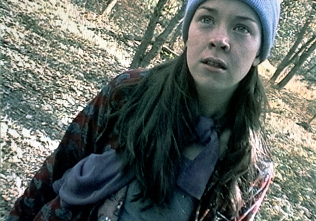Filmmaker, Heather, gets lost in the Maryland woods.