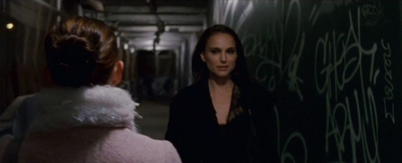 Nina sees herself walking down the sidewalk