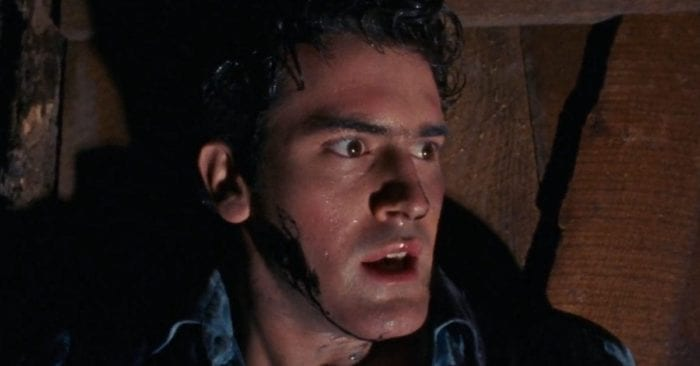 Bruce Campbell as Ashley J. Williams in the original Evil Dead