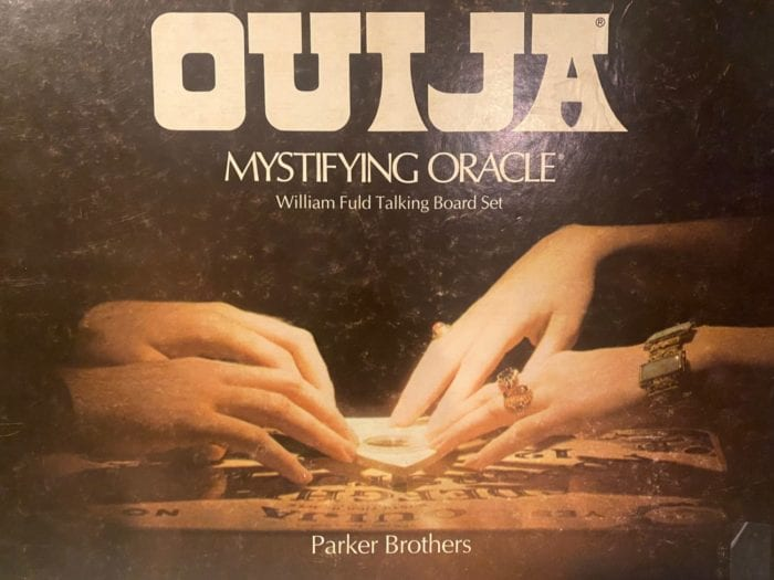 cover to the box of the parker brothers ouija board