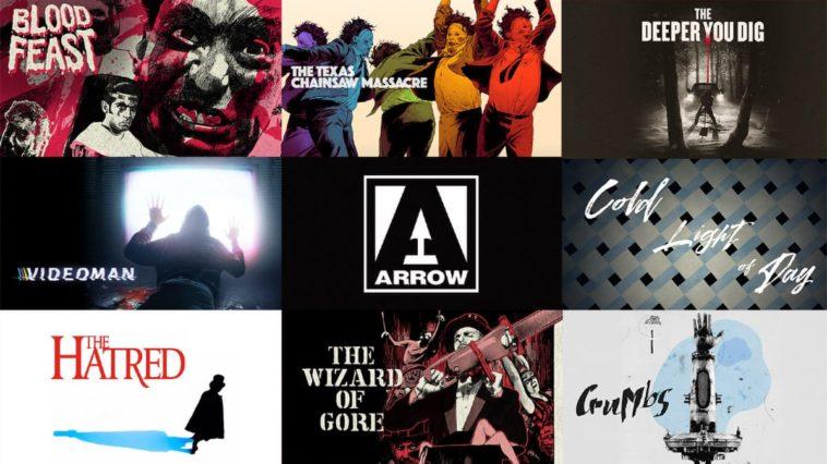 Montage of Arrow movie covers