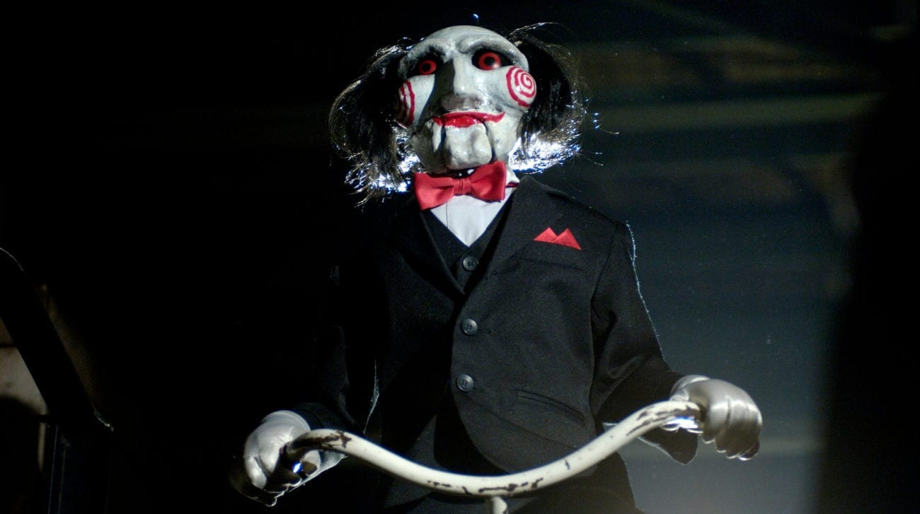 Billy the Puppet on his tricycle
