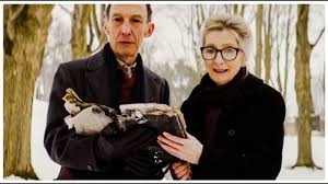 Audrey brings back a crow.