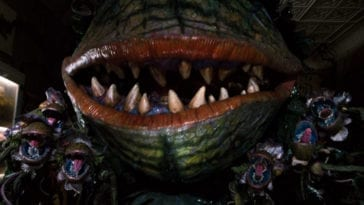 "Carnivorous plant Audrey II (Levi Stubbs) and a series of carnivorous plant buds sing in the film, ""Little Shop of Horrors"" (1986)."