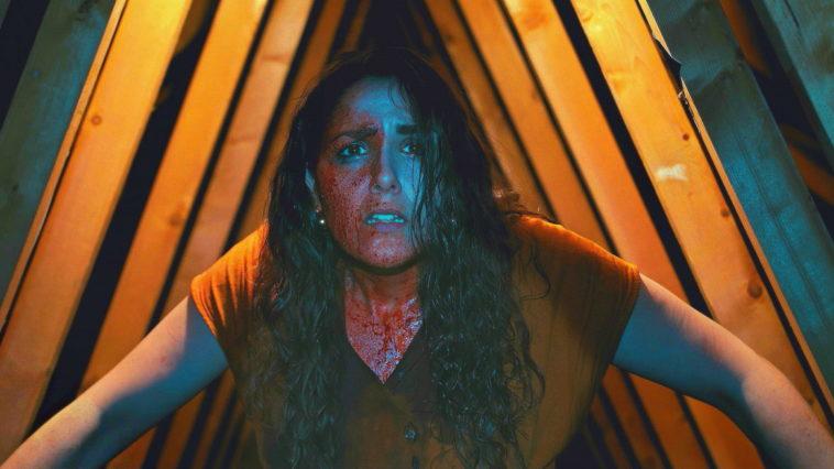 a blood-spattered Lauren
