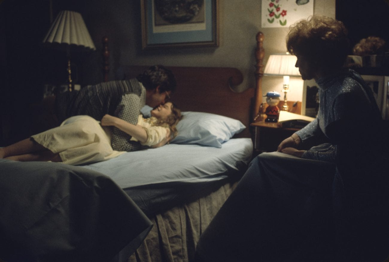 Behind the scenes of Regan on the bed during The Exorcist