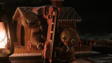 Krampus Gingerbread Cookies Nail Gun