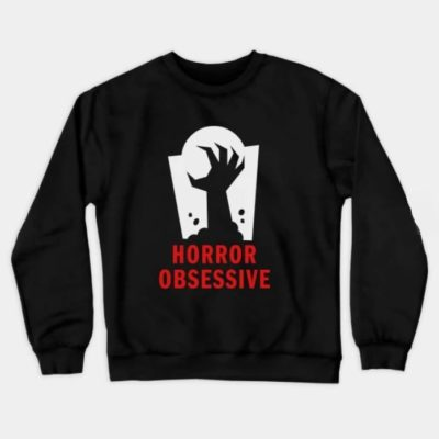 Crew-neck tee shirt with Horror Obsessive logo