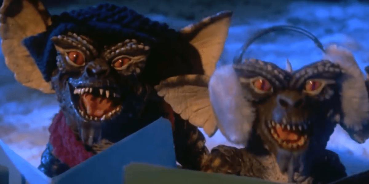 Gremlins singing Christmas carols