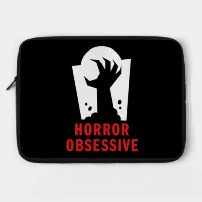 Laptop case with Horror Obsessive logo