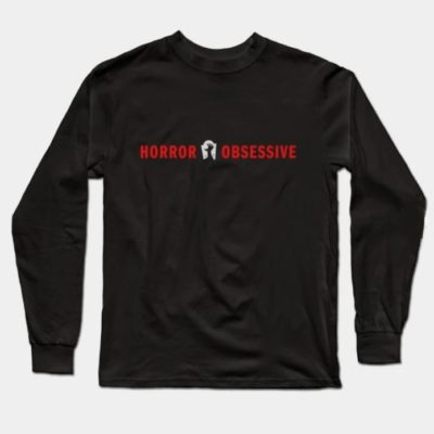 Long sleeve tee shirt with Horror Obsessive logo