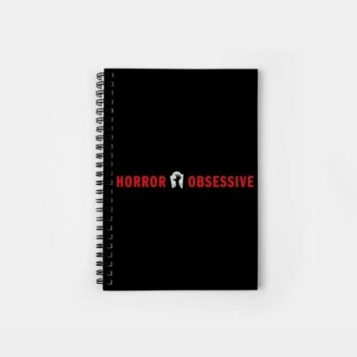 Notebook with Horror Obsessive logo
